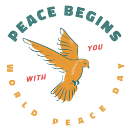 Peace begins with you badge