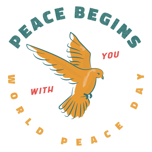 A paz começa com seu crachá