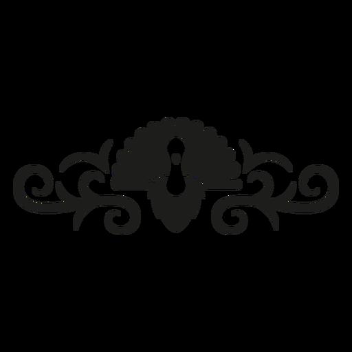 Diseño de encaje de pavo real Transparent PNG