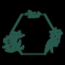 Vinilo decorativo pentágono