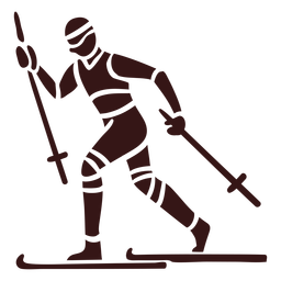 Person skiing design