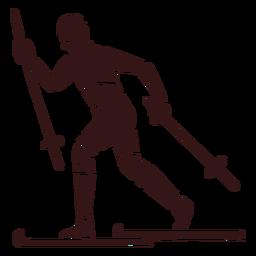 Projeto de esqui de pessoa