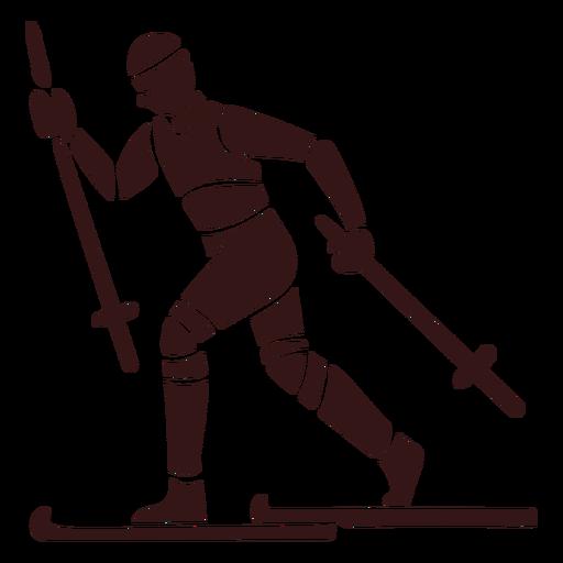 Person skiing design