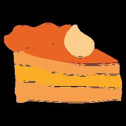 Stück Kuchen ausgeschnitten Design