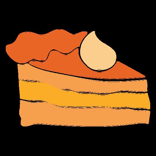 Piece pie cut out design