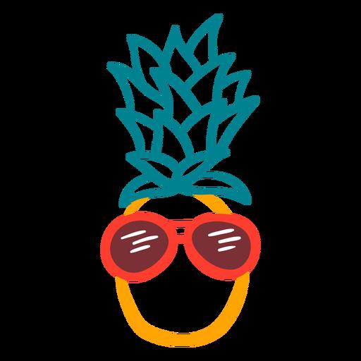 Óculos de sol rpunded de abacaxi desenhados à mão