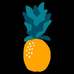 Elemento de fruta dibujado a mano de piña