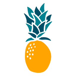 Pineapple hand drawn fruit element