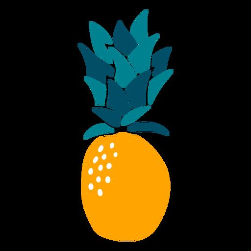 Elemento de frutas desenhadas à mão de abacaxi Transparent PNG