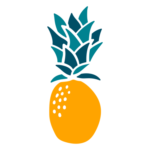 Pineapple hand drawn fruit element Transparent PNG