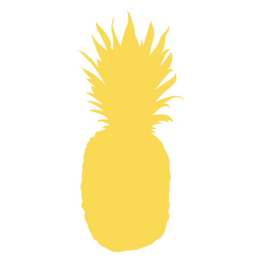 Pineapple realistic silhouette Transparent PNG