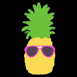 Óculos de sol com silhueta de abacaxi