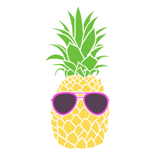 Pineapple silhouette sunglasses Transparent PNG
