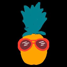 Ananas Urlaub Sonnenbrille flach