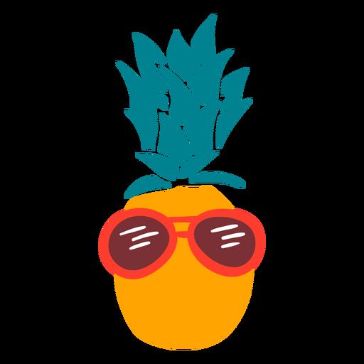 Gafas de sol de piña vacaciones planas