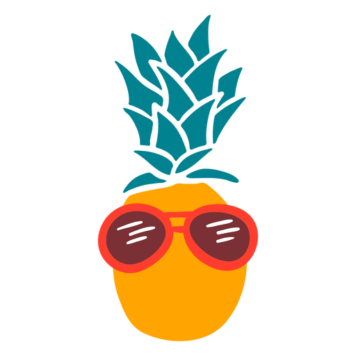 Pineapple vacations sunglasses flat Transparent PNG