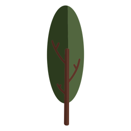 Plantar árvore frondosa plana