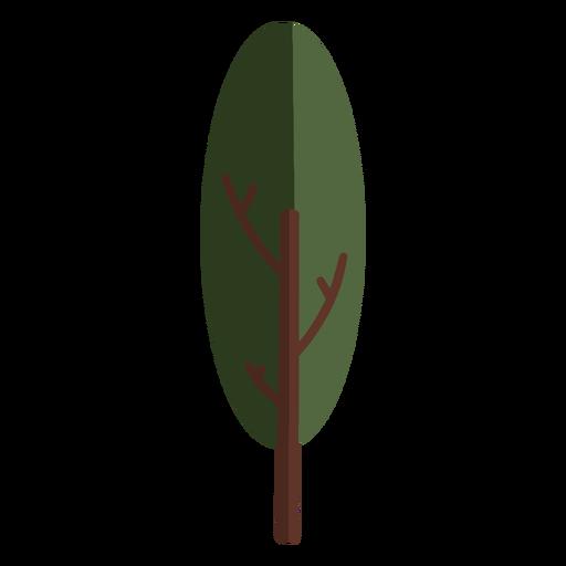 Planta arbol frondoso plano