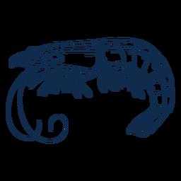 Golpe de camarão animal