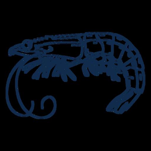 Trazo de animal de gambas Transparent PNG