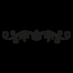 Decoración de encaje con patrón de calabaza