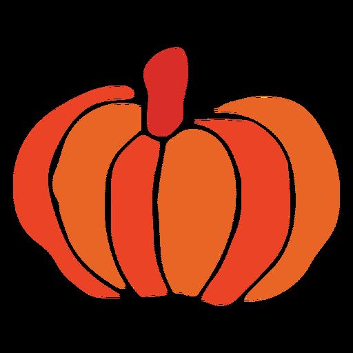 Pumpkin vegetable cut out design Transparent PNG