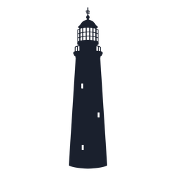 Pyramidal lighthouse silhouette