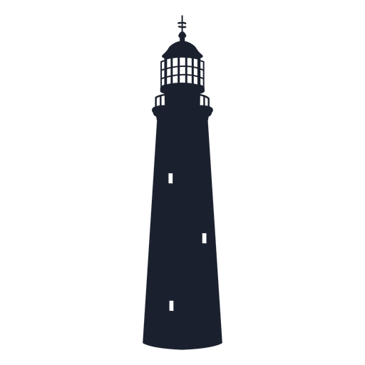 Pyramidal lighthouse silhouette Transparent PNG