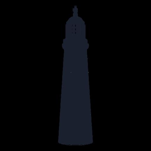 Pyramidal lighthouse silhouette