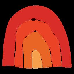 Arco iris tradicional acción de gracias cortada