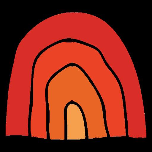Arco iris tradicional de acción de gracias recortado