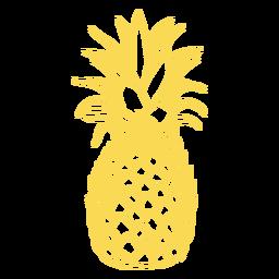 Desenho realista de traçado de abacaxi