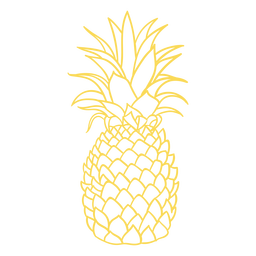 Realistic pineapple stroke design