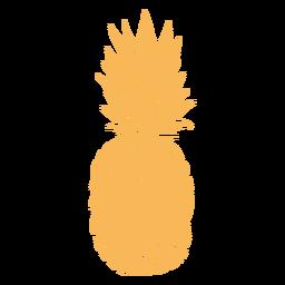 Desenho de abacaxi de silhueta realista