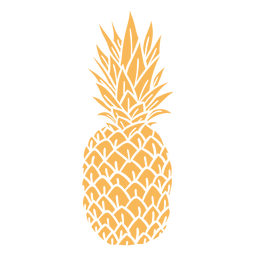 Realistic silhouette pineapple design