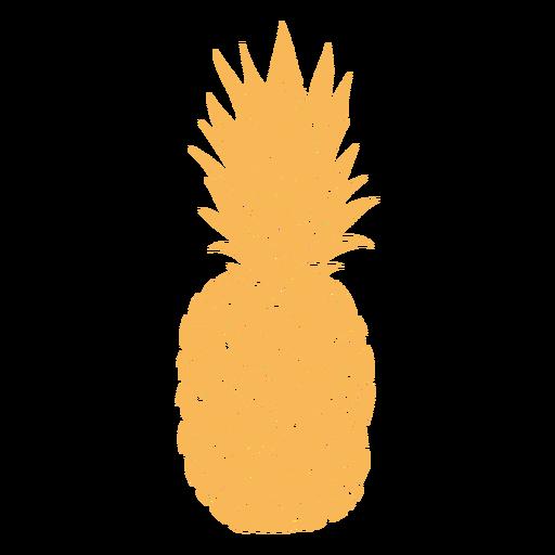 Desenho de abacaxi de silhueta realista Transparent PNG