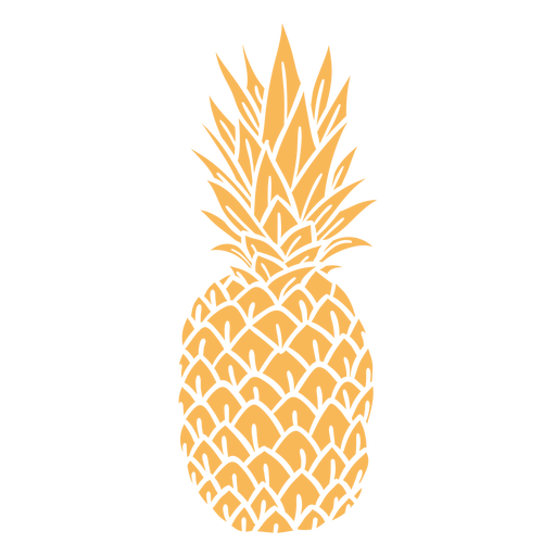 Realistic silhouette pineapple design Transparent PNG