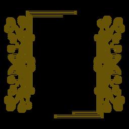 Diseño floral de marco rectangular
