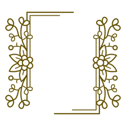 Rectangular frame floral design
