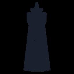 Silhueta de farol torre redonda