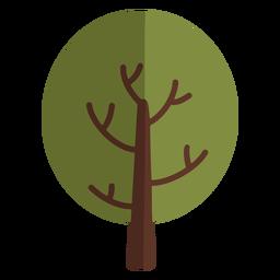 Round tree icon flat
