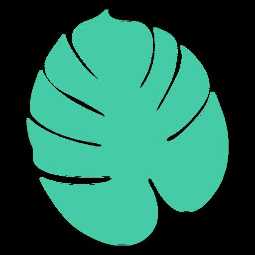 Diseño de silueta de árbol de hoja tropical redondeada