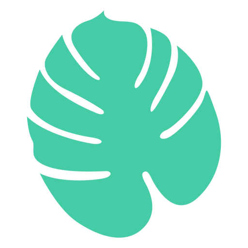 Rounded tropical leaf tree silhouette design