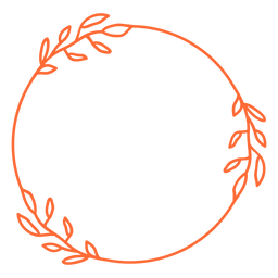 Vinil de moldura de ornamento arredondado