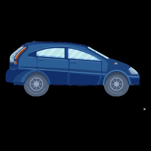 Vista lateral plana del coche SUV