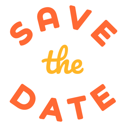 Save the date lettering date