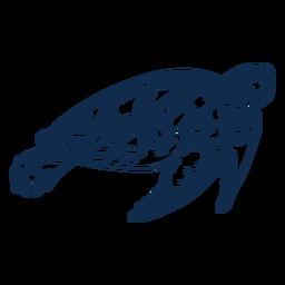 Golpe de animal del océano de tortuga marina