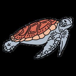 Traço de tartaruga marinha
