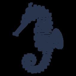 Silhueta de peixes cavalos-marinhos