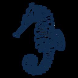 Caballito de mar océano animal trazo